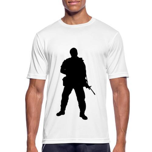 Swedish soldier + SWE Flag - Andningsaktiv T-shirt herr