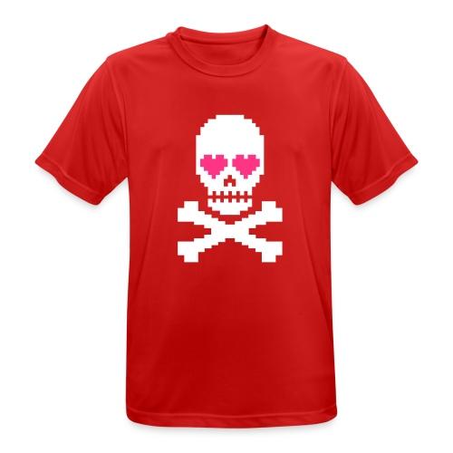 Skull Love - mannen T-shirt ademend