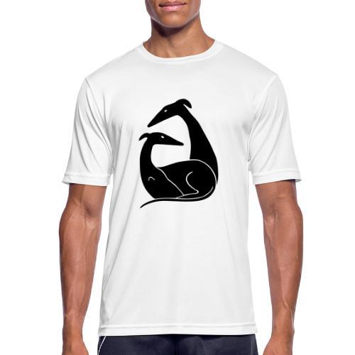 Windhundpaar - Männer T-Shirt atmungsaktiv