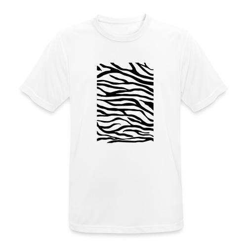 zebra v6 - Mannen T-shirt ademend actief