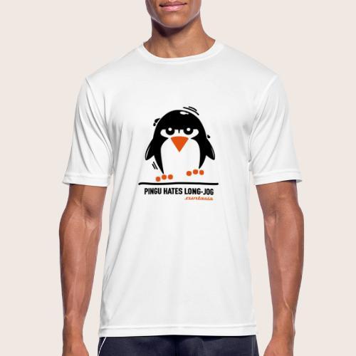 Pingu hates long jog 1 - Männer T-Shirt atmungsaktiv