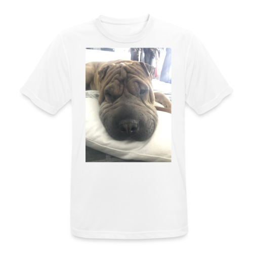 Closeup Shar-pei - Men's Breathable T-Shirt
