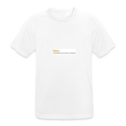 Text-Logo der ÖRSG - Rett Syndrom Österreich - Männer T-Shirt atmungsaktiv