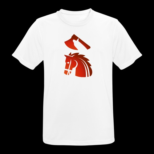 red horse with an axe above – Starykon-Kasprzyk - T-shirt respirant Homme
