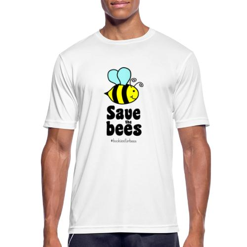 Bees9-1 save the bees | Bienen Blumen Schützen - Men's Breathable T-Shirt