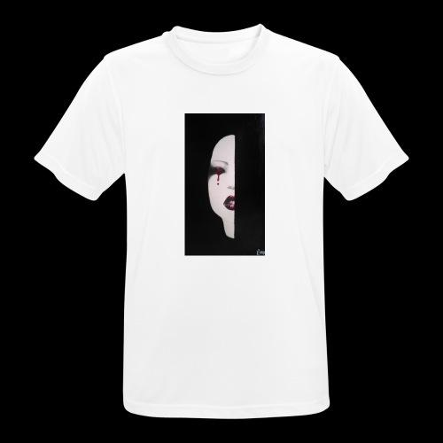 BlackWhitewoman - Maglietta da uomo traspirante