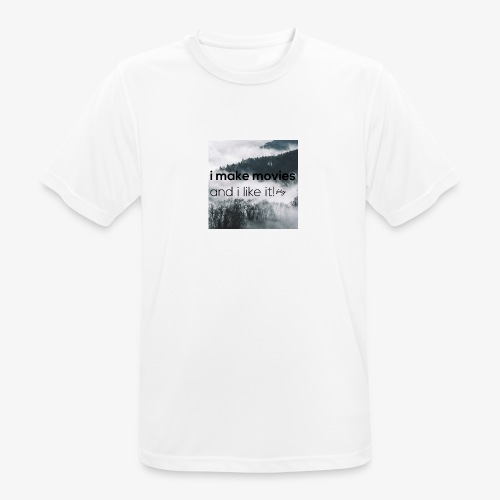 i make movies, and i like it - Mannen T-shirt ademend