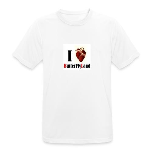 I love Butterflyland - T-shirt respirant Homme