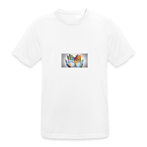 Hands of the world - Andningsaktiv T-shirt herr