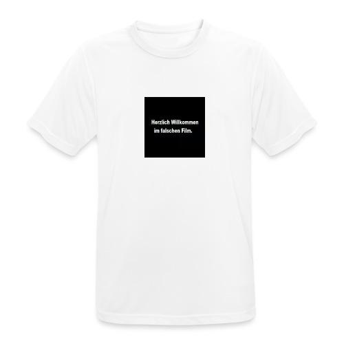 Willkommen im Falschen Film - Männer T-Shirt atmungsaktiv