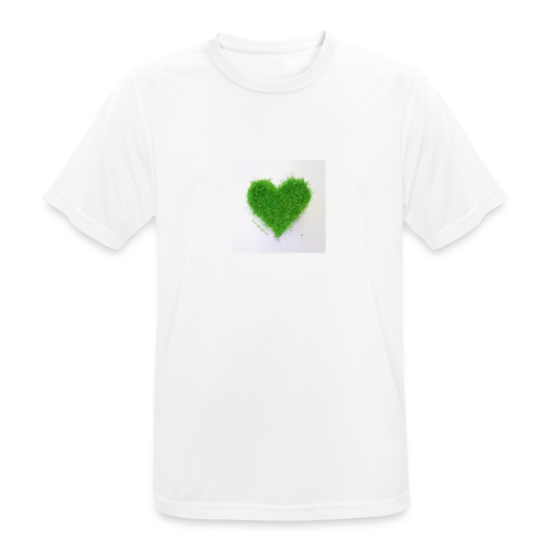 Herzrasen Button - Männer T-Shirt atmungsaktiv