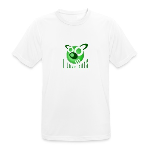 I Love Cats - Men's Breathable T-Shirt