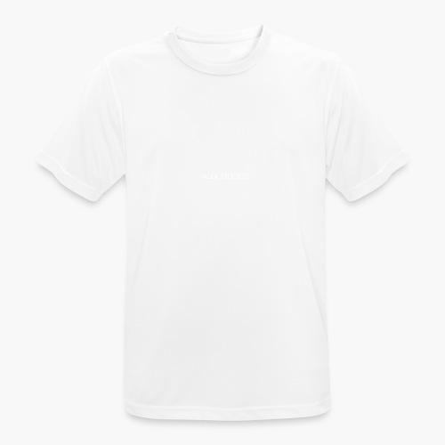 LogoAlexStudiosWhite - Männer T-Shirt atmungsaktiv