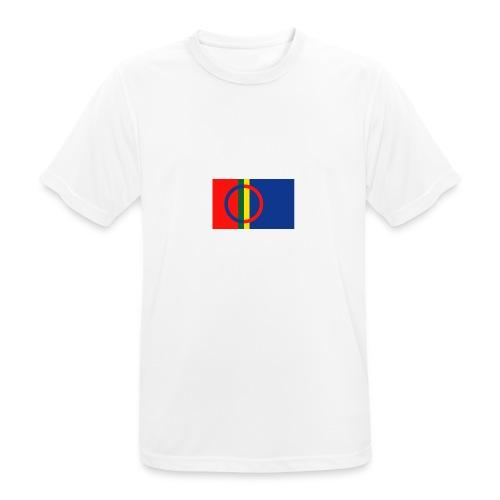 Samiska flaggan - Andningsaktiv T-shirt herr