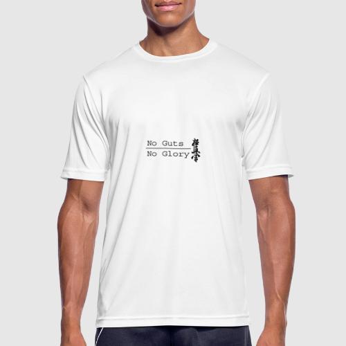 No guts No glory logo - Mannen T-shirt ademend actief