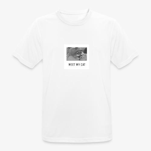 Meet My Cat - miesten tekninen t-paita