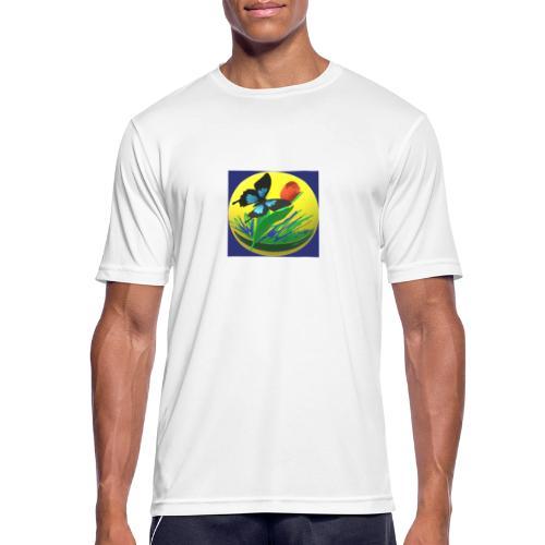 Farfalla e Tulipano2 - Maglietta da uomo traspirante