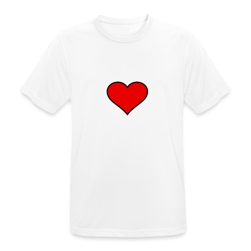 big heart clipart 3 - Andningsaktiv T-shirt herr