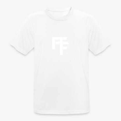 Petit Logo Teamfitfrance Blanc - T-shirt respirant Homme