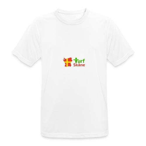 Turf Skåne Logo röd - Andningsaktiv T-shirt herr