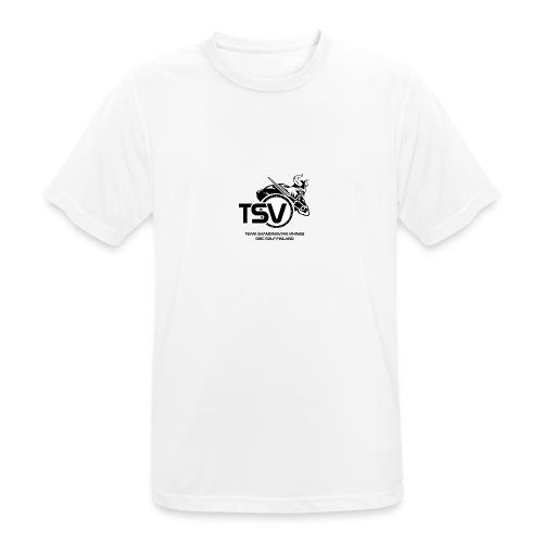 TSV logo koko musta - miesten tekninen t-paita