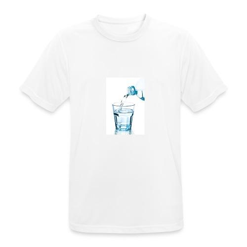 Glas-water-jpg - Mannen T-shirt ademend actief