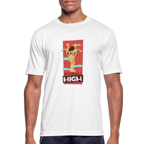 naturally high - Männer T-Shirt atmungsaktiv