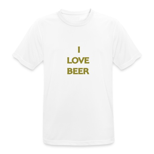 I LOVE BEER - Maglietta da uomo traspirante