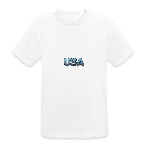 usa/estados unidos - Camiseta hombre transpirable