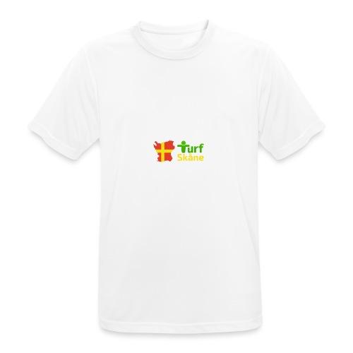Turf Skåne Logo gul - Andningsaktiv T-shirt herr