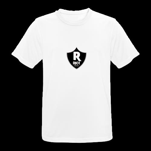 riot Nation logo schwarz - Männer T-Shirt atmungsaktiv