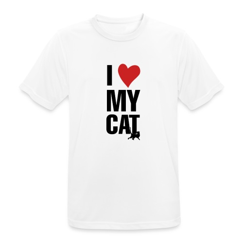 I_LOVE_MY_CAT-png - Camiseta hombre transpirable