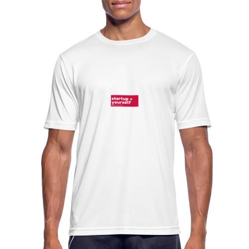 Red White Fashion Logo startup yourself motivation - Männer T-Shirt atmungsaktiv