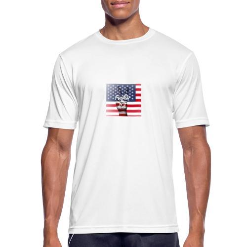 Fresh and Nice America - Männer T-Shirt atmungsaktiv