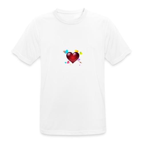 coeurs coloré - T-shirt respirant Homme