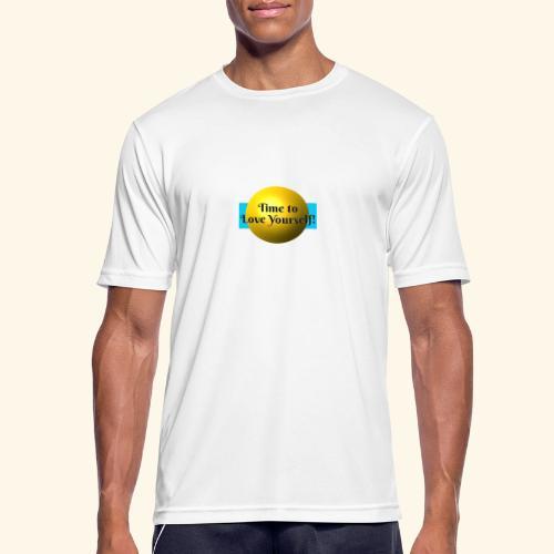 Time to Love Yourself - Männer T-Shirt atmungsaktiv