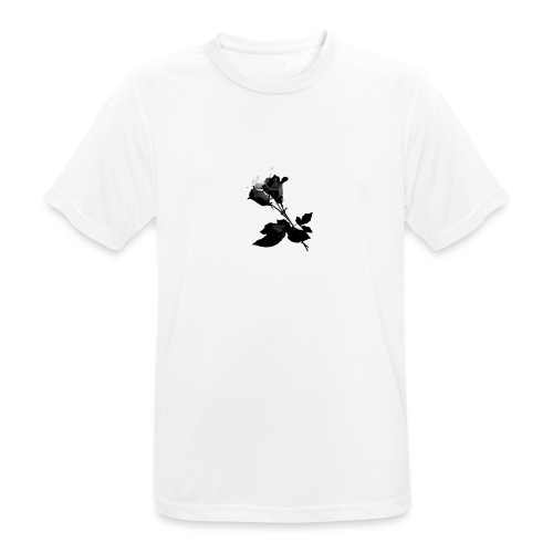 Black and White Rose Bundle - Men's Breathable T-Shirt