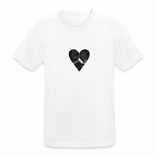 Bergliebe - used / vintage look - Männer T-Shirt atmungsaktiv