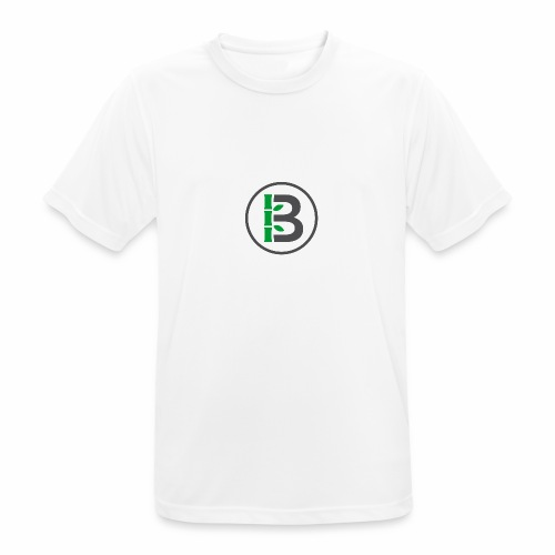 Biomboo Logo Circle Charcoal - Men's Breathable T-Shirt