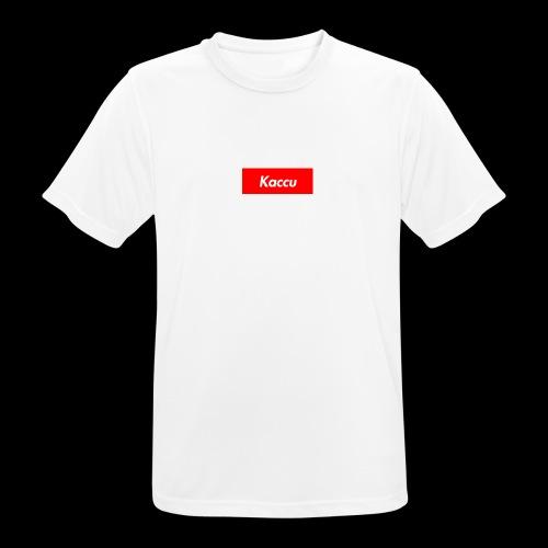 Kaccu box logo - miesten tekninen t-paita