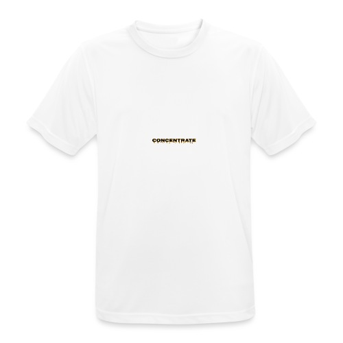Concentrate on white - Men's Breathable T-Shirt