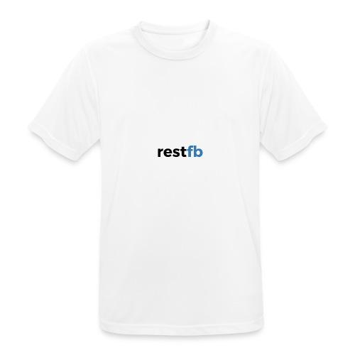 RestFB logo black - Men's Breathable T-Shirt