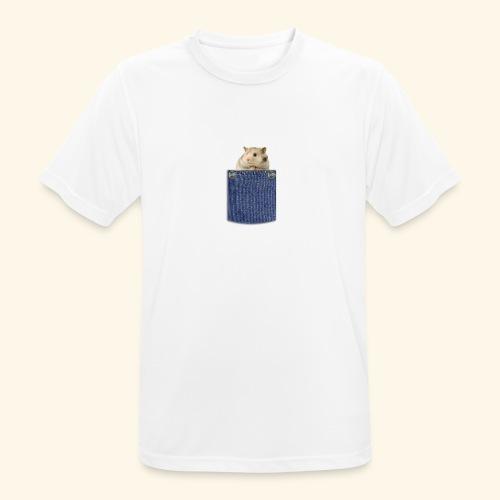 hamster in the poket - Maglietta da uomo traspirante