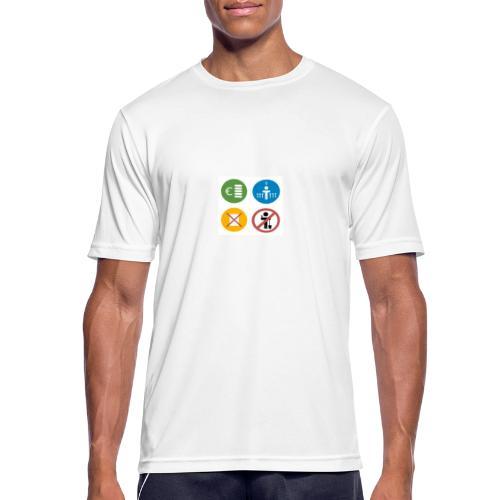 4kriteria obi vierkant - Mannen T-shirt ademend actief