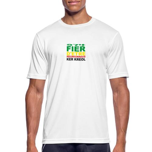 Logo fier d'etre kreol 974 ker kreol - Rastafari - T-shirt respirant Homme