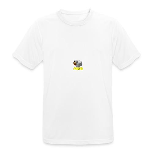 POw3r sportivo - Maglietta da uomo traspirante