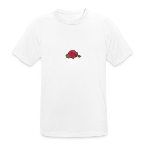 Felkan Brand: Rose Print White - Andningsaktiv T-shirt herr