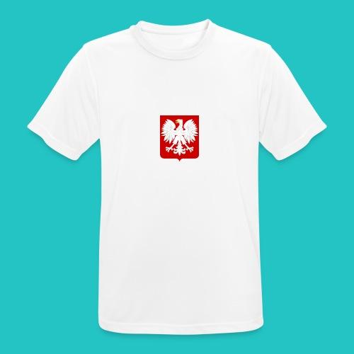 Koszulka z godłem Polski - Koszulka męska oddychająca