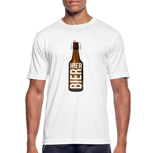 Hier Bier - Shirt - Männer T-Shirt atmungsaktiv