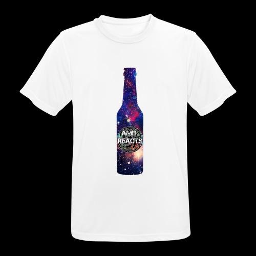 Space beer bottle logo - Men's Breathable T-Shirt